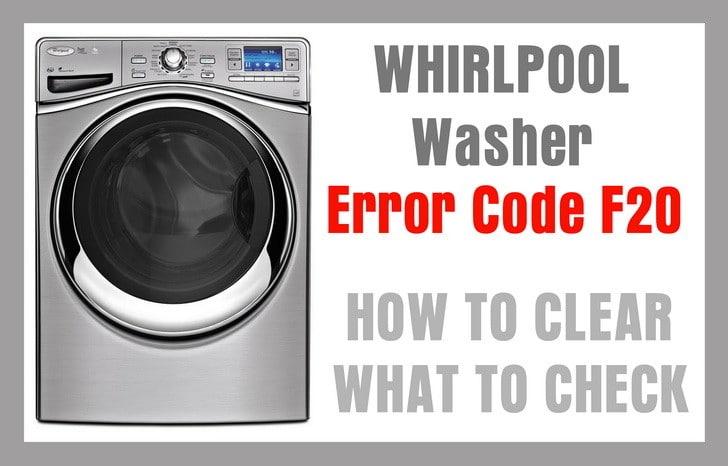 Códigos De Error LAVADORAS WHIRLPOOL
